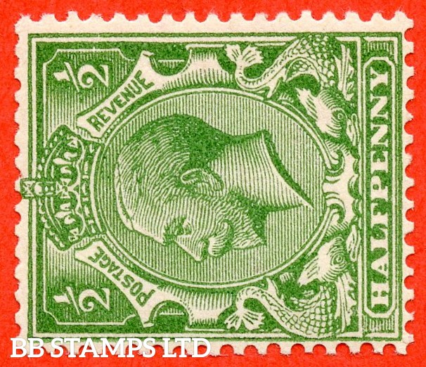 SG. 418 awi. N33 (1) c. ½d green. SIDEWAYS & INVERTED WATERMARK. A superb UNMOUNTED MINT example of this very RARE George V watermark variety.