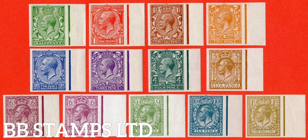 SG. 418 - 429. N33 - N45. ½d - 1/-. IMPRIMATUR. A superb UNMOUNTED MINT right hand marginal complete set of 13 all backstamped ' BPMA '. A RARE set currently catalogued @ £57,000.00.