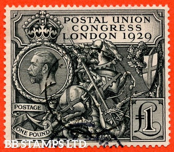SG. 438. NCom9. £1.00 Postal Union Congress. A very fine CDS used example.