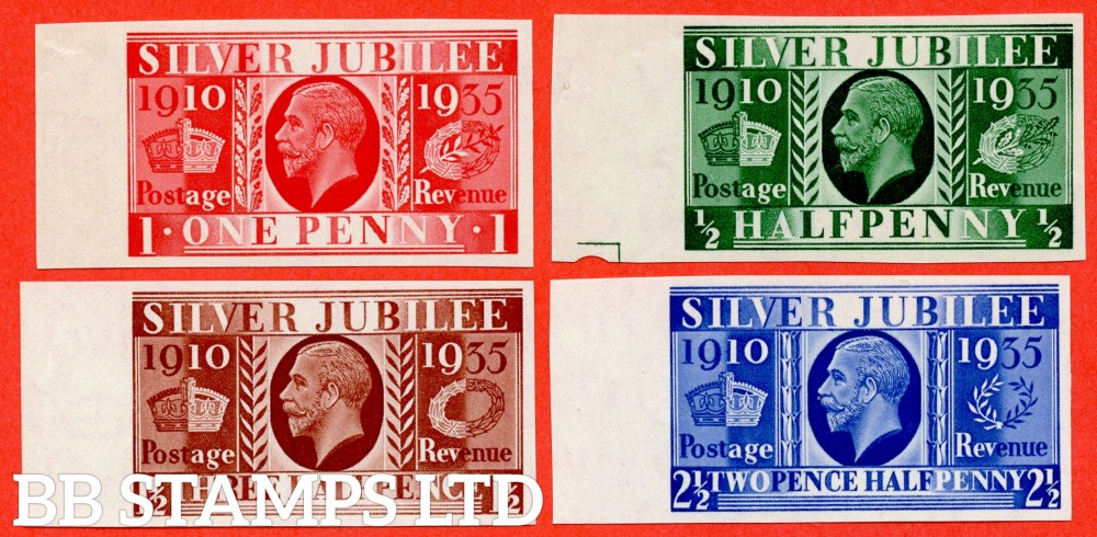 SG. 453 - 455. NCom10 - NCom14. ½d - 2½d. IMPRIMATUR. A superb UNMOUNTED MINT left hand marginal complete set of 4 all backstamped ' BPMA '. A RARE set currently catalogued @ £22,000.00.