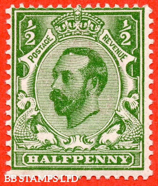 "SG. 322. N1 (1) d. ½d green. Die 1A. A fine UNMOUNTED MINT example with the listed variety "" white spot at top of forehead. ( Plate 8. Row 19/3 ) ""."