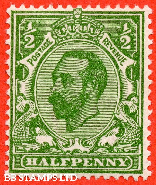 "SG. 325 variety N2 (6) g. ½d deep green. Die 1B. A very fine UNMOUNTED MINT example with the listed variety "" Blob above ' E ' of POSTAGE and white flaw in corner. Plate 8. Row 19/2 ""."