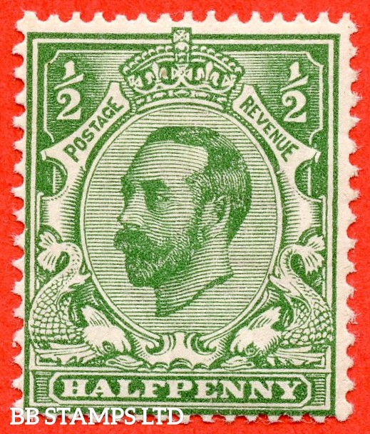 SG. 323 variety N1 ( UNLISTED ) ½d Pale Bluish Green. A super UNMOUNTED MINT example of this very scarce known but unlisted by SG. Downey head shade variety. Complete with RPS certificate.