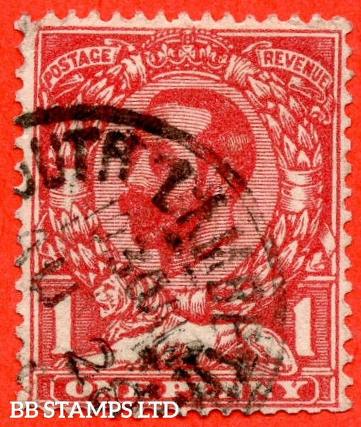 """SG. 328a. Variety N7 (1) f. 1d carmine red. Die A. A very fine """" 28th August SOUTH LAMBETH """" CDS used example clearly showing the RARE variety ' No Cross On Crown '. A very RARE and underated stamp."""