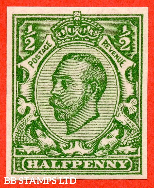 """SG. 346 b. N6 (1) f. ½d green """" IMPERF """". A super UNMOUNTED MINT example of this scarcer Downey variety."""