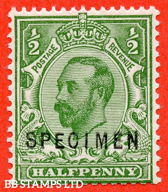 "SG. 334 s. N3 (2) s. ½d green. A very fine UNMOUNTED MINT example overprinted "" SPECIMEN "" type 22."