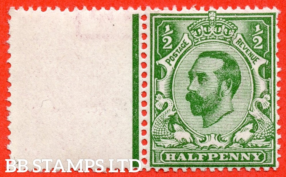 SG. 323. N1 (4). ½d Bluish Green. Die 1A. A super UNMOUNTED MINT example of this scarcer Downey shade complete with BPA certificate.