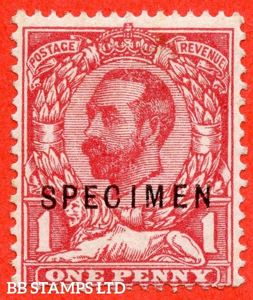 "SG. 327 s. Variety N7 (4) s. 1d Carmine.Die 1A. A fine lightly mounted mint example overprinted "" SPECIMEN "" type 22."