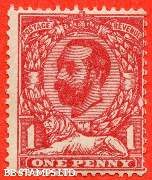 """SG. N7 (3) j. 1d Deep Carmine Red. A fine UNMOUNTED MINT example with the RARE listed """" Gash under crown. ( Plate 13b / 13c. Row 19/11 """"."""