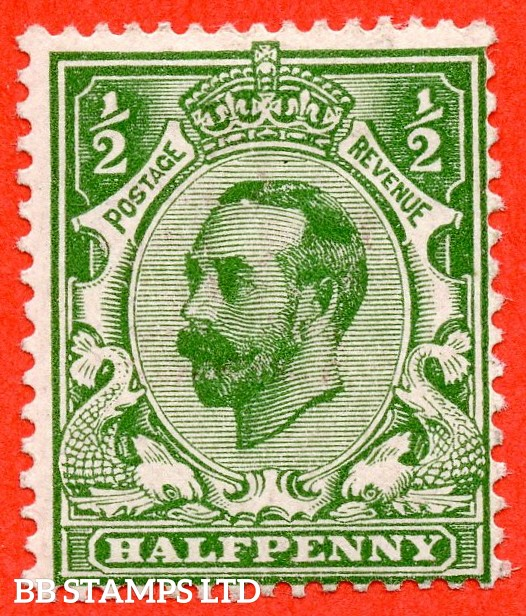 "SG. 322. N1 (1) d. ½d green. Die 1A. A fine mounted mint example with the listed variety "" white spot at top of forehead. ( Plate 8. Row 19/3 ) ""."