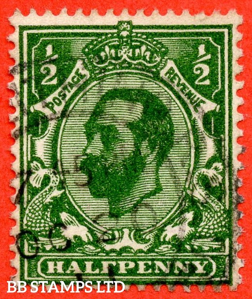 SG. 324 Variety N2 (7). ½d Very Deep Green. A very fine used example of this very scarce Downey shade.