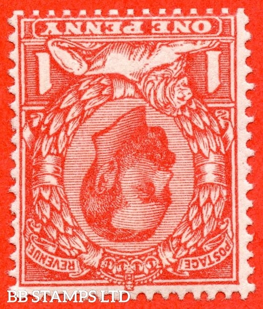 SG. 341 wi. N11 (2) a. 1d Bright Scarlet. INVERTED WATERMARK. A SUPERB UNMOUNTED MINT example of this scarce Downey variety.