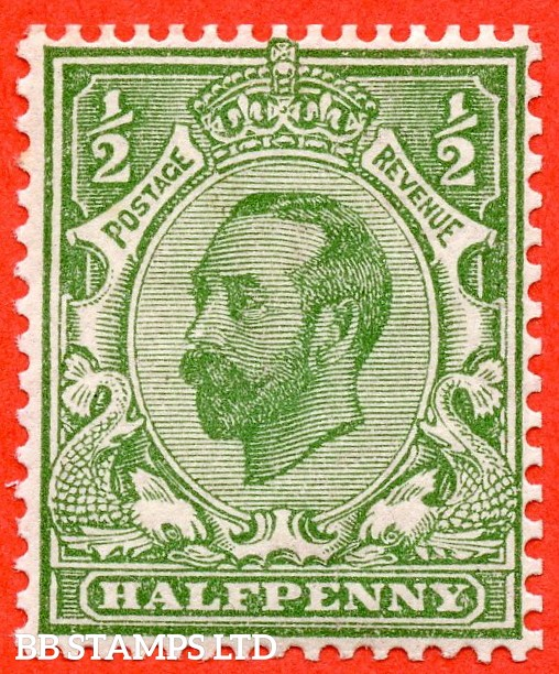 """SG. 334. N3 (2) f. ½d pale green. A fine mounted mint example with the listed variety """" white flaw after ' Y '. Row 2/2 of booklet pane with watermark upright """"."""