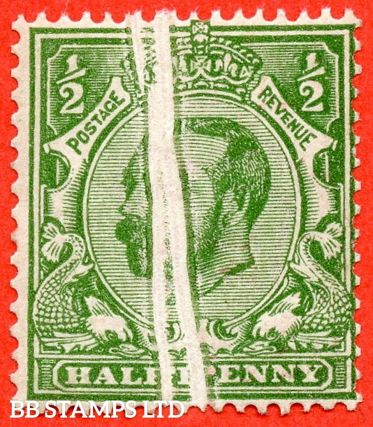 "SG. 325. N2 (2). ½d pale bright green. Die 1B. A very fine UNMOUNTED MINT example with a very nice "" PRE - PRINTING PAPER FOLD "" error."