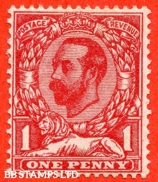 SG. 328a. Variety N7 (1) f. 1d Carmine red. Die 1A. A mounted mint example of this George V variety clearly showing the RARE variety ' No Cross On Crown '.