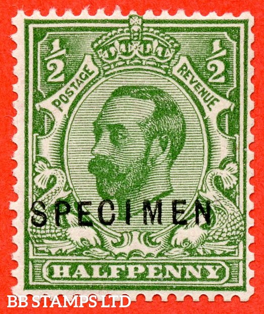 """SG. 335 s. N3 (1) s. ½d green. A very fine UNMOUNTED MINT example overprinted """" SPECIMEN """" type 22."""