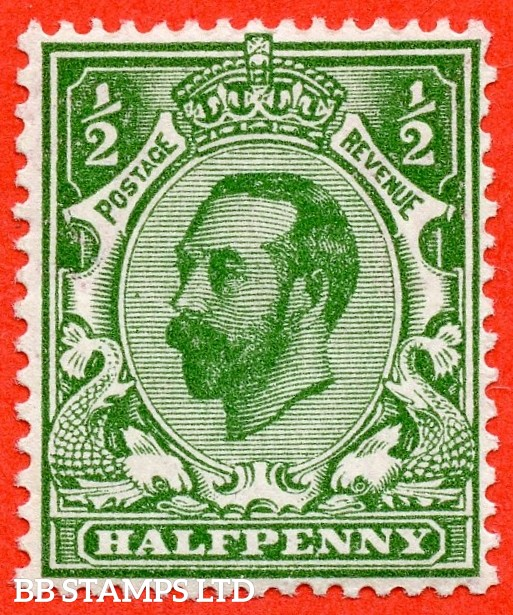 "SG. 323. N1 (4). ½d Bluish Green. Die 1A. A super UNMOUNTED MINT example of this scarcer Downey shade complete with RPS certificate. Also with an interesting "" SPLIT WATERMARK "" variety."