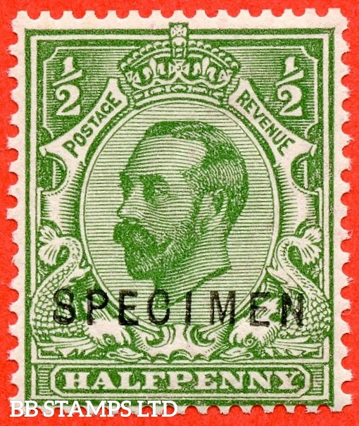 "SG. 335 s. N3 (1) s. ½d green.Die 1B. A very fine UNMOUNTED MINT example overprinted "" SPECIMEN "" type 22."
