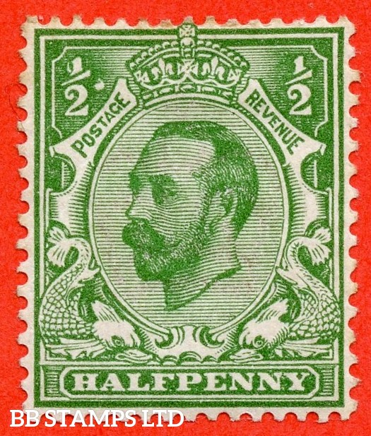 "SG. 322. N1 (1) c. ½d Green. A fine lightly mounted mint example with the listed variety "" White blob right of left ½. Plate 8 Row 20/2 ""."
