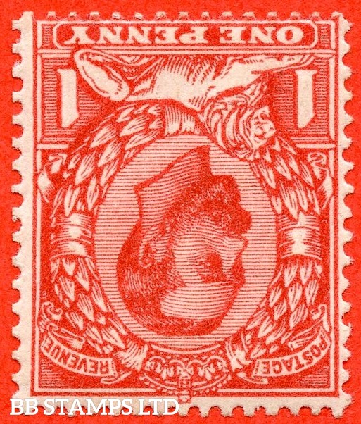 SG. 333 wi. N9 (4) a. 1d Aniline scarlet. INVERTED WATERMARK. A superb UNMOUNTED MINT example of this scarce Downey head shade variety.