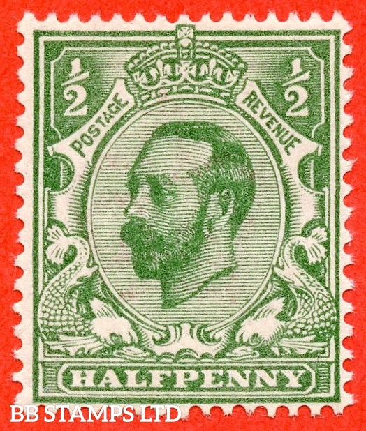 SG. 323. N1 (UNLISTED) ½d Pale Bluish Green. A super UNMOUNTED MINT example of this very scarce known but unlisted by SG. Downey head shade variety.