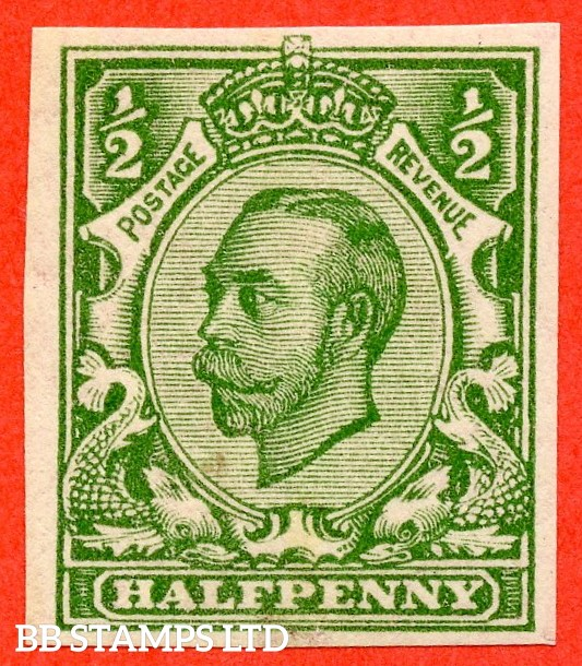 "SG. 346 b. N6 (1) f. ½d green "" IMPERF "". A super UNMOUNTED MINT example of this scarcer Downey variety."