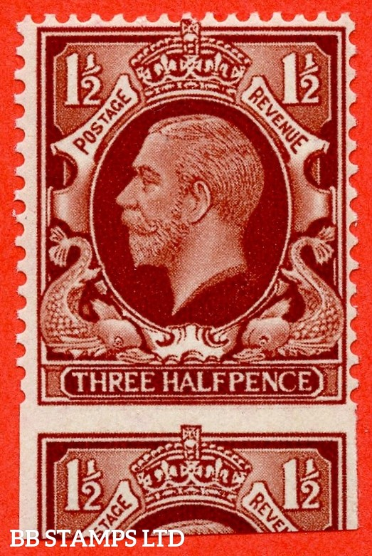 "SG. 441. N51. 1½d red brown. "" LARGE FORMAT. A fine UNMOUNTED MINT example with a super MIS - PERF ERROR."