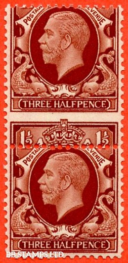 "SG. 441. N51. 1½d red brown. "" LARGE FORMAT. A fine UNMOUNTED MINT vertical pair with a super MIS - PERF ERROR."