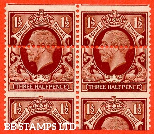 "SG. 441. N51. 1½d red brown. "" LARGE FORMAT. A fine UNMOUNTED MINT horizontal pair with a super MIS - PERF ERROR."