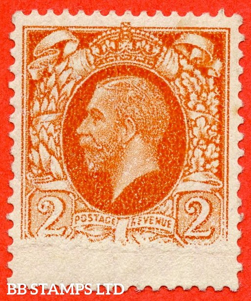 SG. 442. N55. 2d Orange. A fine mounted mint example showing a super printing ERROR leaving just under one quarter of the printing missing.