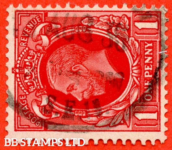 SG. 440 cwi. N50 (1) c. 1d Scarlet. A very fine used example with the scarce Watermark SIDEWAYS INVERTED variety.
