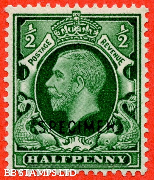 "SG. 439 variety N47 (1) s. ½d green. A very fine UNMOUNTED MINT example overprinted with "" SPECIMEN "" type 32."