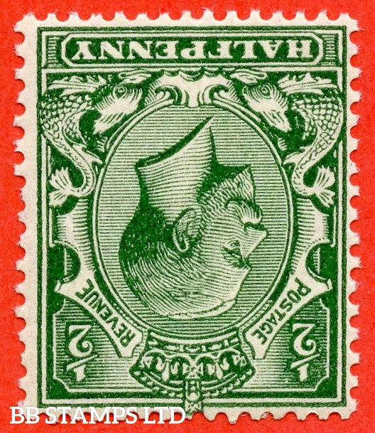 SG. N14 (15) c. ½d Deep Blue ( Myrtle ) Green. INVERTED WATERMARK. A fine mounted mint example complete with RPS certificate.