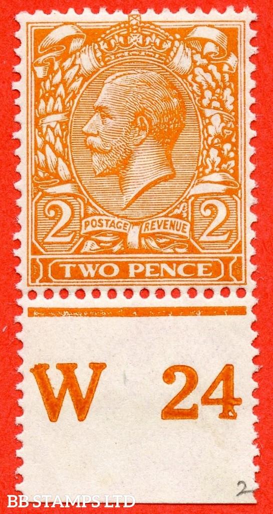 "SG. 368. 2d Orange. ( Die II ) A fine mounted mint  "" W24 perf "" control single."