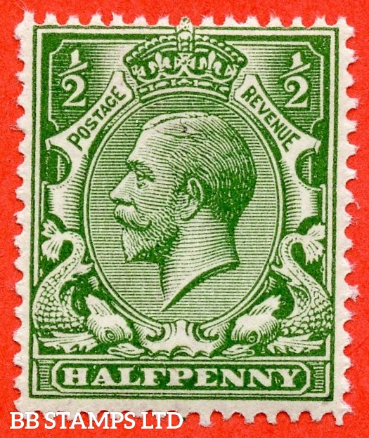 SG. N14 ( UNLISTED ). ½d deep dull olive-green. A very fine UNMOUNTED MINT example of this known but unlisted by SG George V shade variety. Complete with Hendon certificate.