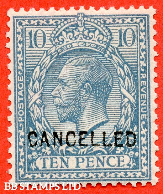 SG. 394. N31 (2) u. 10d turquoise - blue. A superb UNMOUNTED MINT example overprinted CANCELLED type 24.
