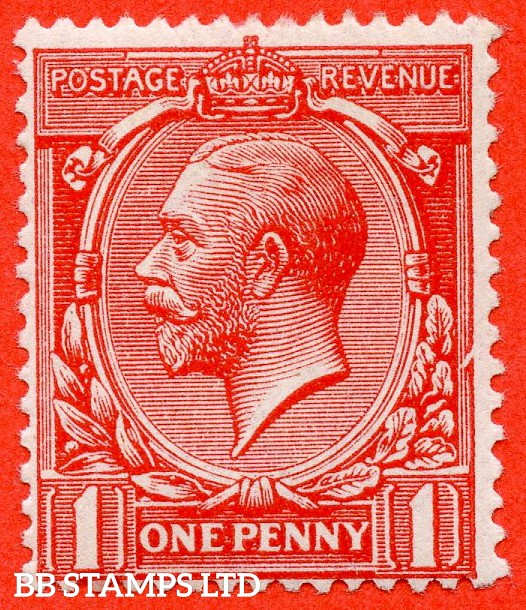 "SG. 357. N16 (1) l. 1d Bright Scarlet. A fine UNMOUNTED MINT example clearly showing the listed "" Broken Frame. Plate 17. Row 19/12 "" variety."
