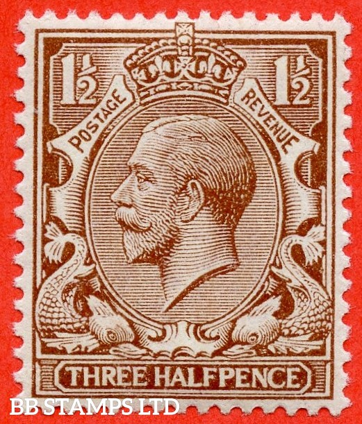 SG. N18 (8). 1½d Brown. A super UNMOUNTED MINT example of this RARE George V shade variety complete with RPS certificate.