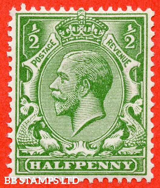 SG. 352. N14 (6). ½d bright green. A super lightly mounted mint example complete with RPS certificate. Excellent for reference.