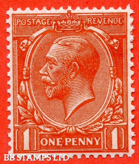 SG. N16 (15). 1d Orange - Vermilion. A fine mounted mint example of this scarce shade complete with RPS certificate.
