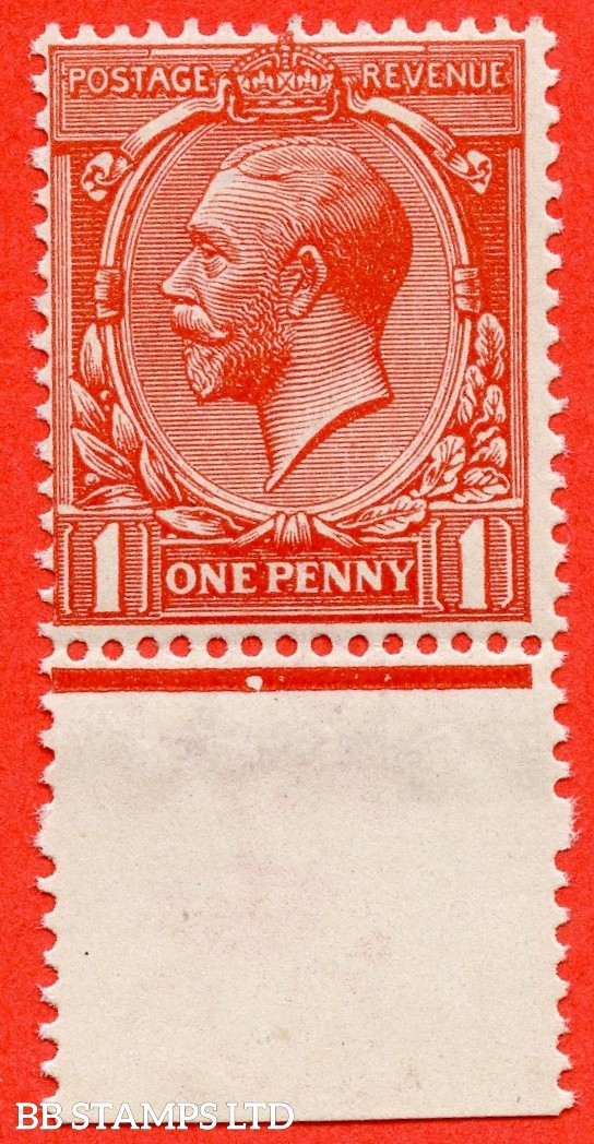 SG. N16 (15). 1d Orange - Vermilion. A very fine UNMOUNTED MINT bottom marginal example of this scarce shade complete with RPS certificate.