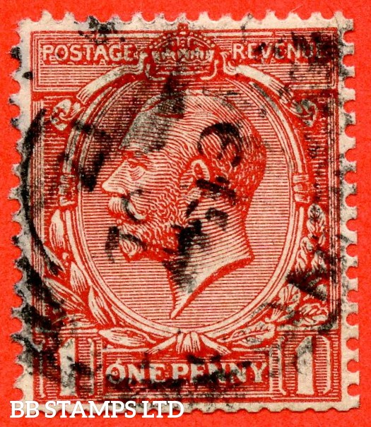 "SG. 357. Variety N16 (1) ka. 1d Bright - scarlet.  INVERTED & REVERSED ' Q ' for ' O ' and SPOT IN CENTRE ROW 2/3 of booklet pane "" error. A fine CDS used example."