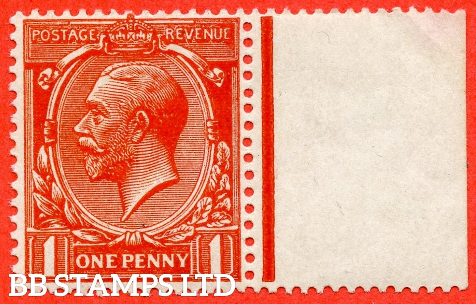 SG. N16 (15). 1d Orange - Vermilion. A very fine UNMOUNTED MINT right hand marginal example of this scarce shade complete with RPS certificate.