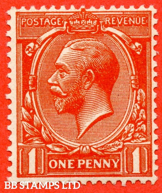 SG. N16 (15). 1d Orange - Vermilion. A very fine UNMOUNTED MINT example of this scarce shade with RPS certificate.