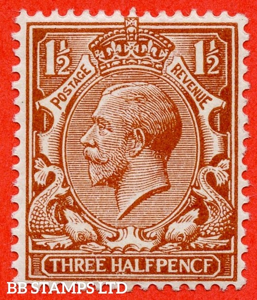 """SG. 364 a. N18 (13) f. 1 ½d Chestnut """" PENCF """" error. A fine UNMOUNTED MINT example."""