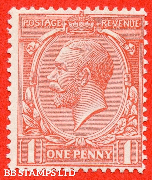 SG. N16 (10). 1d Pink. A very fine lightly mounted mint example of this difficult George V shade variety complete with RPS certificate.