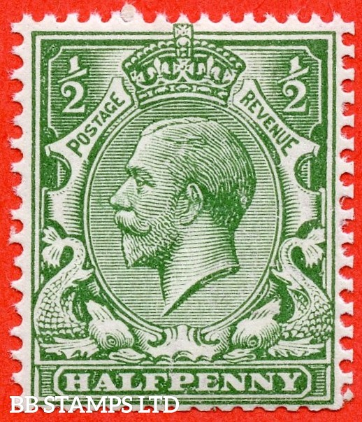 SG. N14 ( UNLISTED ). ½d DULL green. A very fine UNMOUNTED MINT example of this known but unlisted by SG George V shade variety. Complete with HENDON certificate.