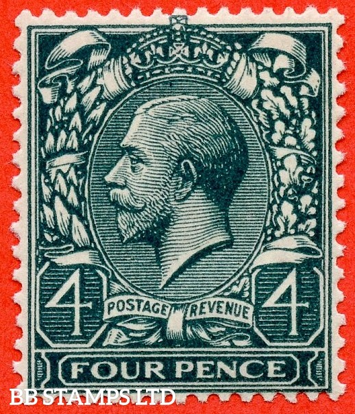 SG. N23 (7). 4d Deep Slate Green. A superb lightly mounted mint example complete with Hendon certificate.