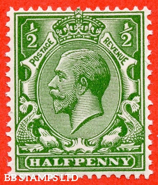SG. N14 (UNLISTED). ½d deep yellow green. A super UNMOUNTED MINT example of this known but unlisted by SG. George V shade variety. Complete with Hendon certificate.