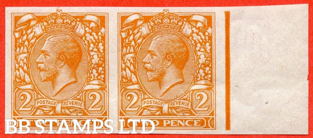 "SG. 370. N20 (1). 2d Orange. ( Die II ). IMPRIMATUR. A superb UNMOUNTED MINT right hand marginal horizontal pair backstamped "" BPMA ""."